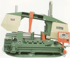 MEGA DOUBLE COLUMN HEAVY DUTY SEMI-AUTOMATIC HORIZONTAL BANDSAWS. POWER TURNING TABLE > MITRE CUTTING