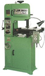 T-JAW VERTICAL VARIABLE SPEED BANDSAW WITH AUTO-SLIDING TABLE